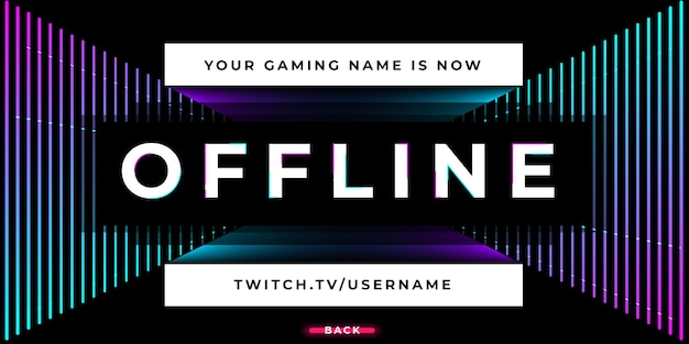 Streaming banner twitch offline