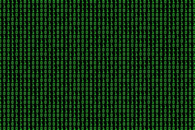 Streaming di sfondo di codice binario