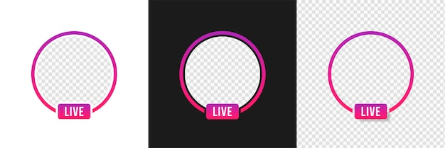 Streaming video live instagram, frame mockup