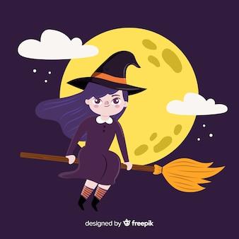 Strega di halloween carino