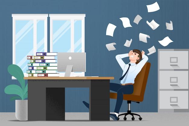 Stressato uomo d'affari