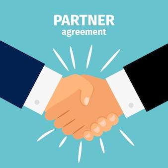 Stretta di mano di business partnership