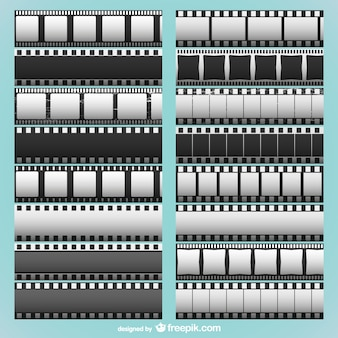 Strisce di pellicola di raccolta