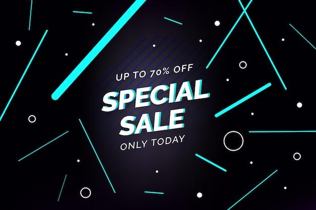 Strisce di vendita speciale e sfondo di cerchi