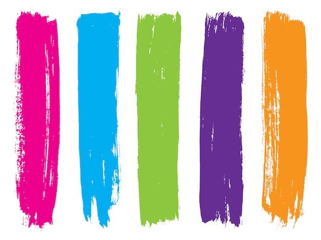 Strisce di vernice colorata