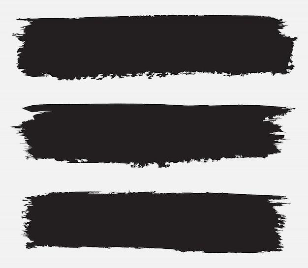 Strisce di vernice nera