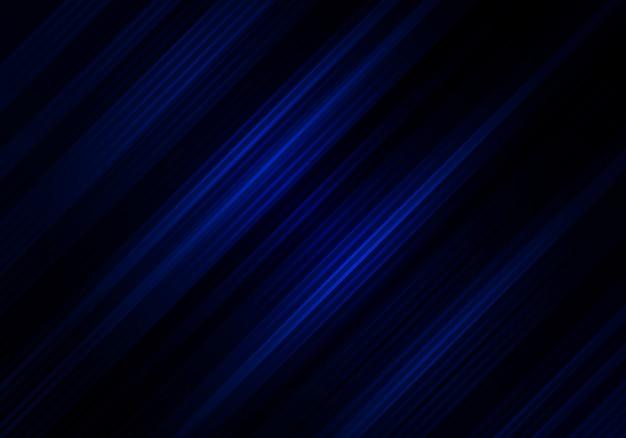 Strisce diagonali astratte sfondo nero e blu