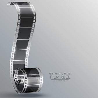Striscia di pellicola in stile 3d