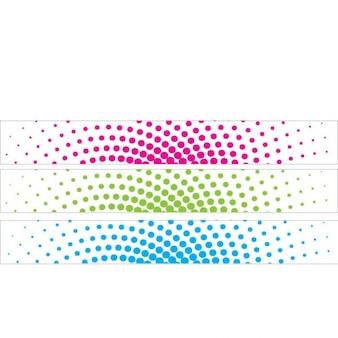 Striscione colorato con elementi mezzitoni
