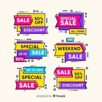 Striscione colorato memphis in vendita