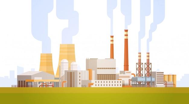Striscione dei rifiuti di tubo di pianta inquinamento di fabbrica edificio natura