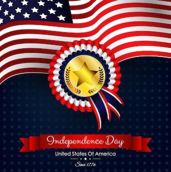 Striscione giorno dell'indipendenza usa