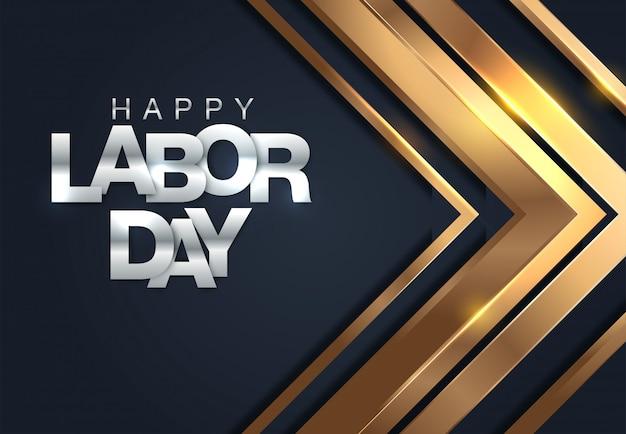 Striscione happy labor day. modello di progettazione illustrazione vettoriale