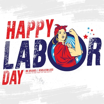 Striscione happy labor day