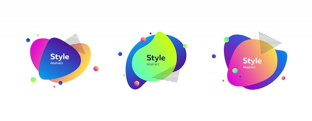 Striscione liquido colorato vibrante