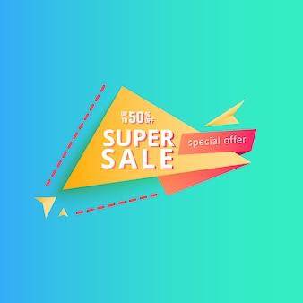 Striscione super vendita. banner di sconto