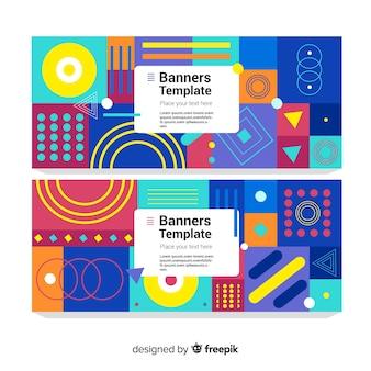 Striscioni colorati con disegno geometrico