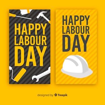 Striscioni felici festa del lavoro
