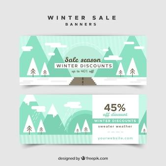 Striscioni vendita inverno