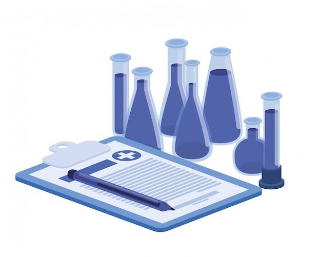 Strumenti da laboratorio su bianco