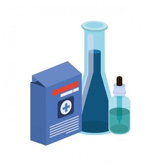 Strumenti di laboratorio con farmaci isolati