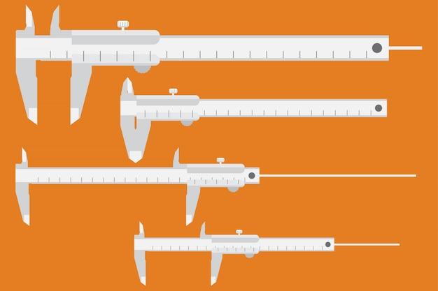 Strumenti di misura su arancio
