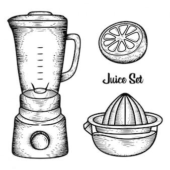 Strumenti di succo disegnato a mano