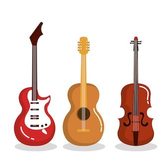 Strumenti musicali chitarre violino acustiche