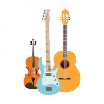 Strumenti musicali isolati