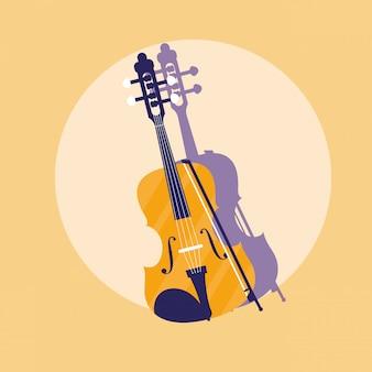 Strumento a violino classico