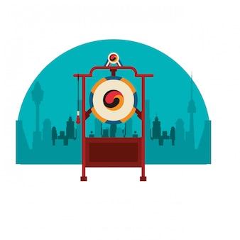 Strumento di gong asiatico
