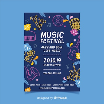 Strumento sagome manifesto festival musicale