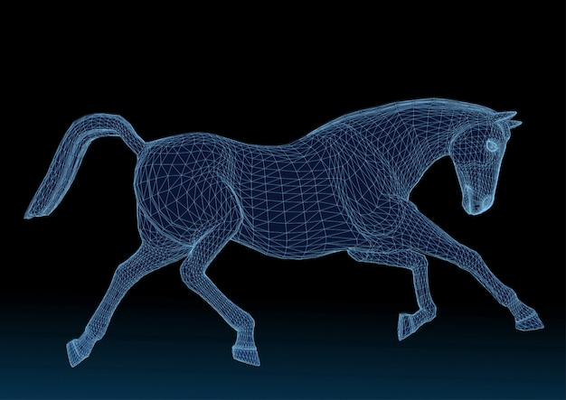 Struttura a cavallo blu