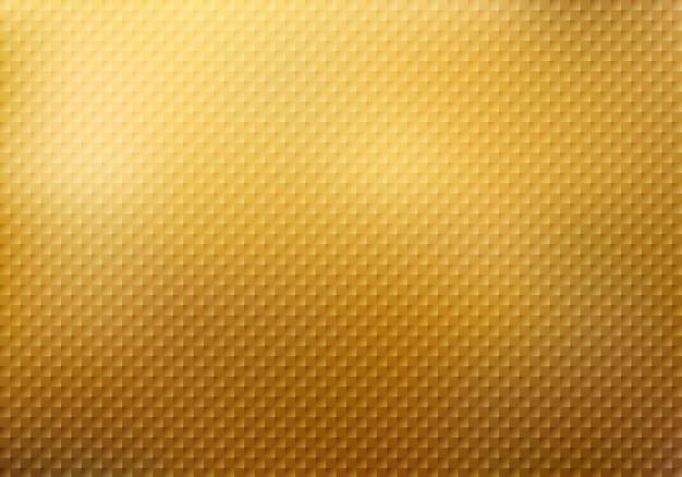 Struttura astratta del modello dei quadrati sul fondo dell'oro