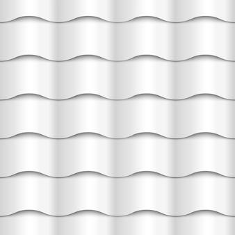 Struttura bianca senza cuciture della carta del modello ondulato