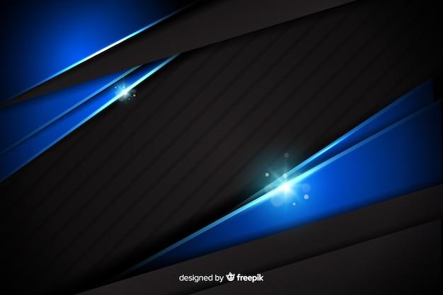 Struttura blu metallica astratta del fondo