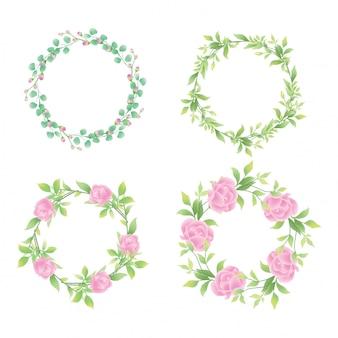 Struttura del fiore dell'invito di nozze di stile dell'acquerello