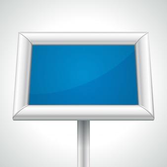 Struttura del tabellone per le affissioni con spazio vuoto blu