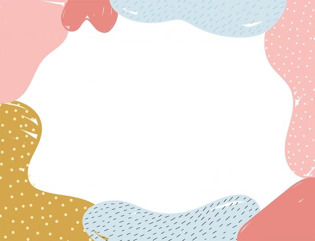 Struttura della decorazione dell'estratto di stile di memphis con l'illustrazione del fondo dei punti