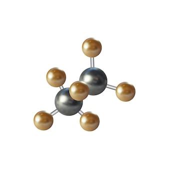 Struttura della molecola per la progettazione grafica medica