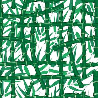 Struttura di bambù del modello del gambo dei rami delle foglie su fondo bianco