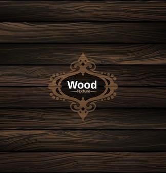 Struttura di legno vettoriale sfondo di legno scuro naturale.