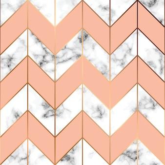 Struttura di marmo, design pattern senza soluzione di continuità con linee geometriche dorate