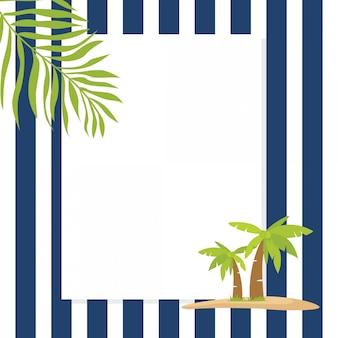 Struttura di saluto di vacanza estiva del tema marino
