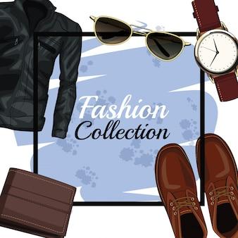 Struttura di vestiti e accessori moda uomo