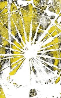 Struttura di vetro rotta