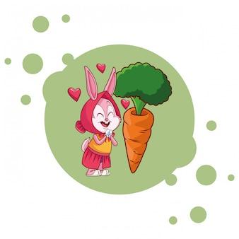 Struttura felice della spruzzata degli amici felici del coniglietto di pasqua
