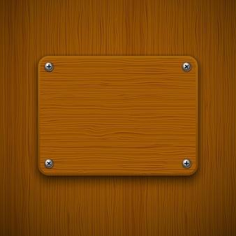 Struttura in legno con quadro