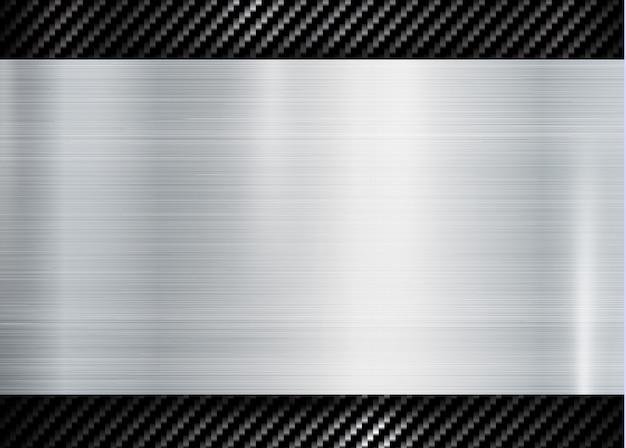 Struttura metallica astratta su carbonio kevlar