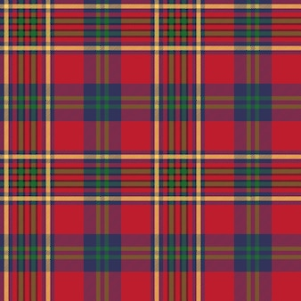 Struttura senza cuciture del tessuto del controllo scozzese classico rosso verde